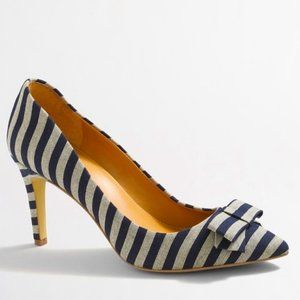 J. Crew Isabelle printed bow pumps NIB 7
